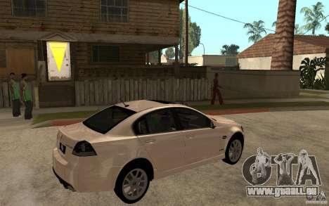 Pontiac G8 GXP 2009 für GTA San Andreas rechten Ansicht
