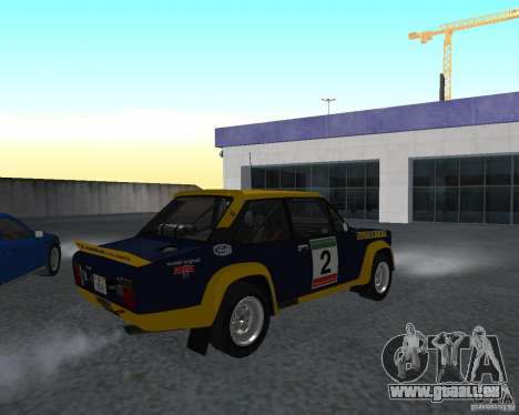 Fiat 131 Rally für GTA San Andreas zurück linke Ansicht