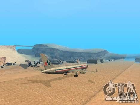 Boeing 767-300 American Airlines für GTA San Andreas zurück linke Ansicht