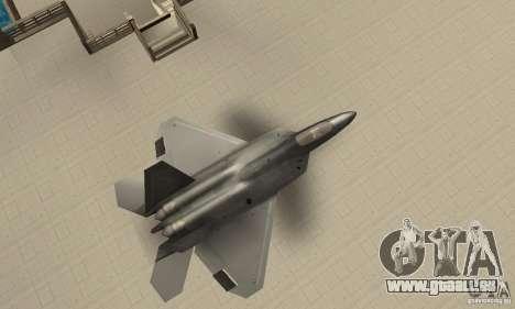 F-22 Black pour GTA San Andreas vue de droite
