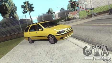 Fiat Palio Weekend 1997 pour GTA San Andreas sur la vue arrière gauche
