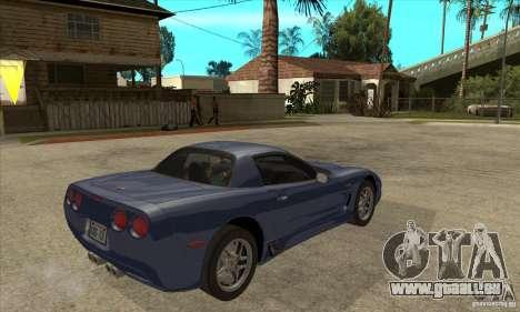 Chevrolet Corvette 5 pour GTA San Andreas roue