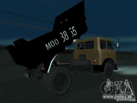 Camion à benne MAZ 503 a pour GTA San Andreas vue de droite