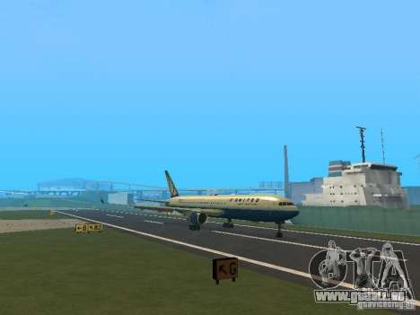 Boeing 767-300 United Airlines New Livery für GTA San Andreas linke Ansicht