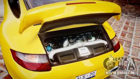 Porsche 911 (997) Turbo v1.0 pour GTA 4 est une vue de l'intérieur