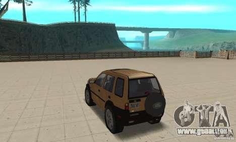 Land Rover Freelander KV6 pour GTA San Andreas sur la vue arrière gauche
