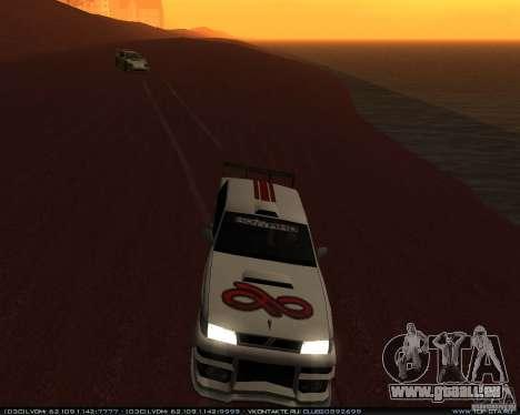 Neue Vinyle Sultan für GTA San Andreas Seitenansicht