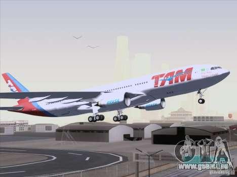 Airbus A330-223 TAM Airlines für GTA San Andreas zurück linke Ansicht