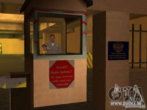 Corps de cadets de Krasnoïarsk pour GTA San Andreas cinquième écran