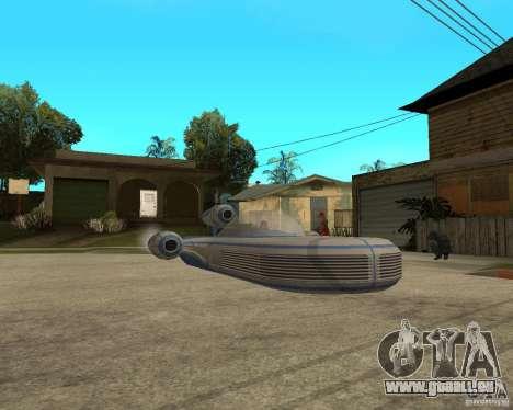 X34 Landspeeder für GTA San Andreas rechten Ansicht