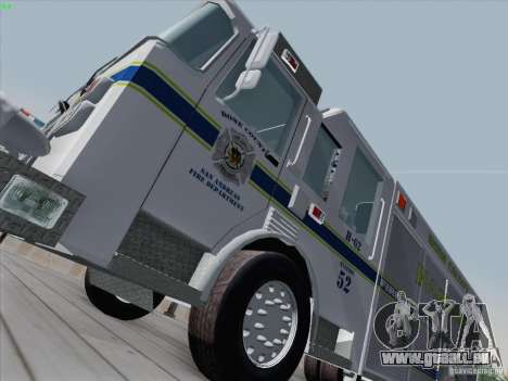 Pierce Fire Rescues. Bone County Hazmat für GTA San Andreas linke Ansicht