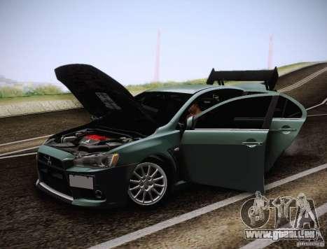 Mitsubishi Lancer Evolution Drift Edition pour GTA San Andreas vue de côté