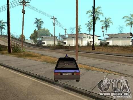 AZLK 21418 patrouiller pour GTA San Andreas sur la vue arrière gauche
