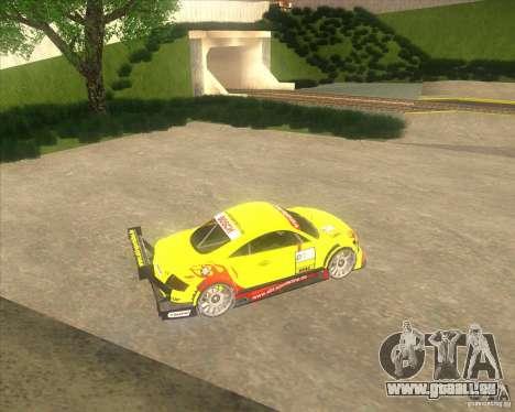Audi TTR DTM racing car pour GTA San Andreas laissé vue