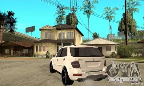 Mercedes-Benz ML 63 pour GTA San Andreas sur la vue arrière gauche