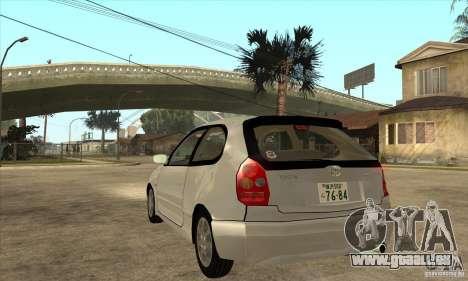 Toyota Corolla G6 Compact E110 JP für GTA San Andreas zurück linke Ansicht
