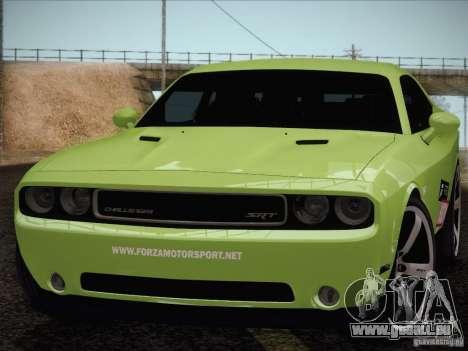 Dodge Challenger SRT8 2010 pour GTA San Andreas vue de droite