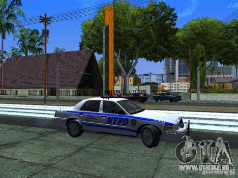 Ford Crown Victoria 2009 New York Police pour GTA San Andreas laissé vue
