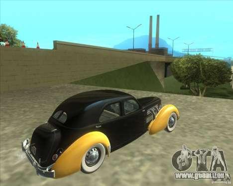 1937 Cord 812 Charged Beverly Sedan für GTA San Andreas linke Ansicht