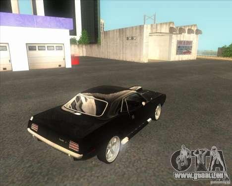 Plymouth Barracuda für GTA San Andreas zurück linke Ansicht
