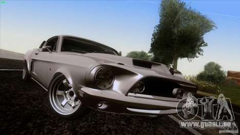 Shelby GT500 1969 pour GTA San Andreas vue de côté