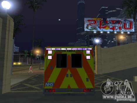 London Ambulance für GTA San Andreas Innenansicht