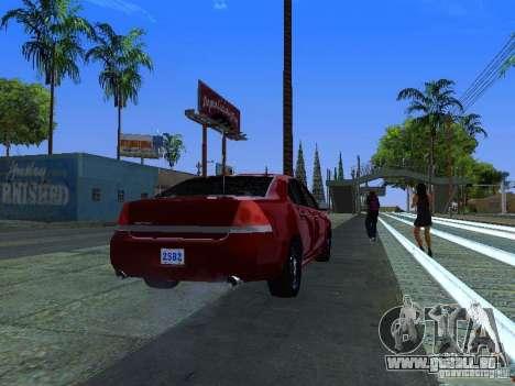 Chevrolet Impala Unmarked pour GTA San Andreas vue intérieure