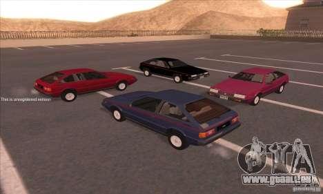 Isuzu Piazza pour GTA San Andreas vue de droite