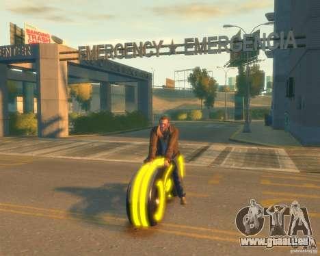 Moto du trône (néon jaune) pour GTA 4