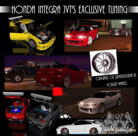 Honda Integra TUNING für GTA San Andreas