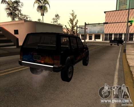 Jeep Cherokee pour GTA San Andreas vue de côté