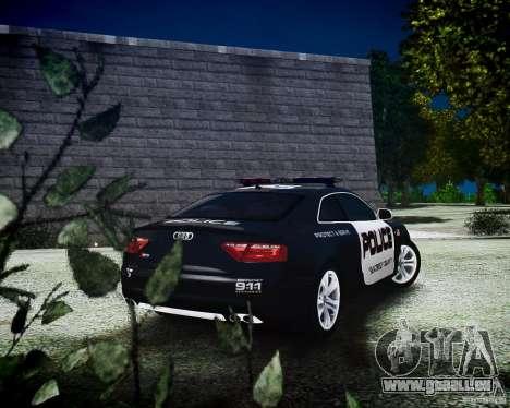 Audi S5 Police pour GTA 4 est une gauche