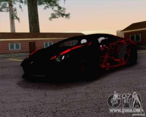 Lamborghini Aventador LP700-4 2011 für GTA San Andreas Innen
