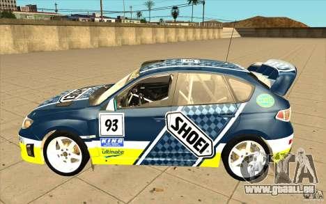 Nouveaux vinyles pour Subaru Impreza WRX STi pour GTA San Andreas vue de dessous