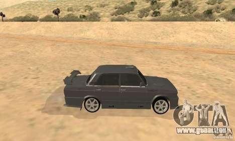 VAZ 2105 Night Hunter pour GTA San Andreas sur la vue arrière gauche