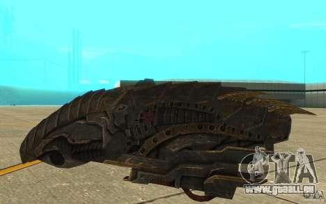 Starship Predator von die Spiel Aliens Vs Predat für GTA San Andreas zurück linke Ansicht