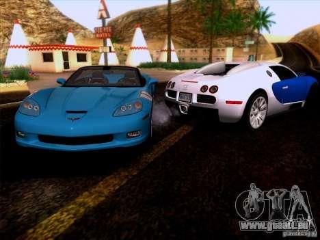 Chevrolet Corvette C6 Convertible 2010 für GTA San Andreas Rückansicht