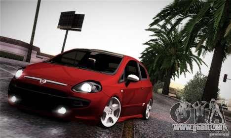Fiat Punto Evo 2010 Edit für GTA San Andreas Innenansicht