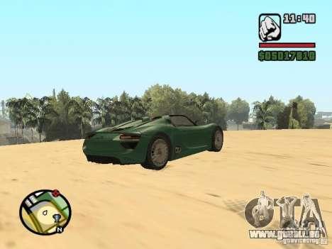 Porsche 918 Spyder für GTA San Andreas linke Ansicht