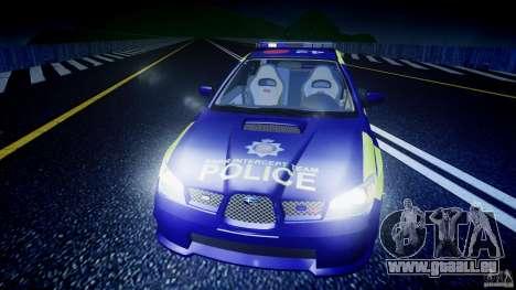 Subaru Impreza WRX Police [ELS] für GTA 4 Innen