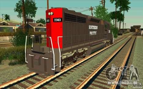 Southern Pacific SD 40 pour GTA San Andreas sur la vue arrière gauche