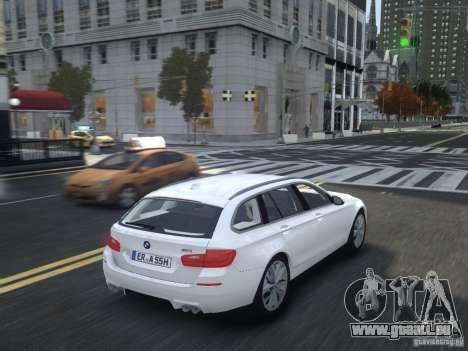 BMW M5 F11 Touring V.2.0 pour GTA 4 Vue arrière