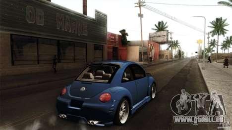 Volkswagen Beetle RSi Tuned für GTA San Andreas zurück linke Ansicht