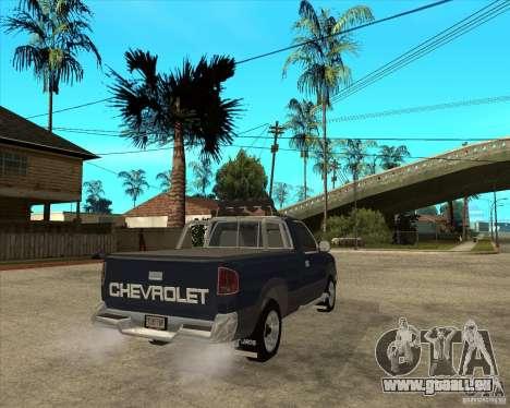 1996 Chevrolet Blazer pickup pour GTA San Andreas sur la vue arrière gauche