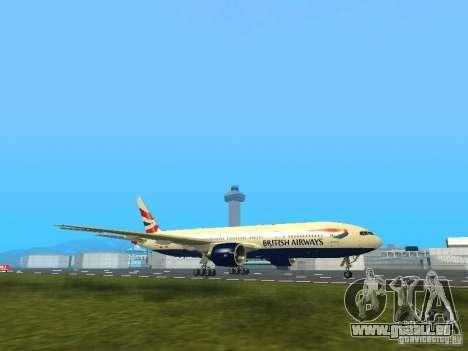 Boeing 777-200 British Airways pour GTA San Andreas laissé vue