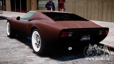 Lamborghini Miura P400 1966 pour GTA 4 est une vue de dessous