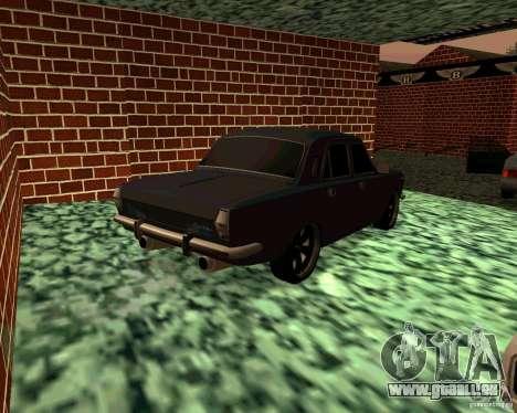 GAZ 24 v3 pour GTA San Andreas sur la vue arrière gauche