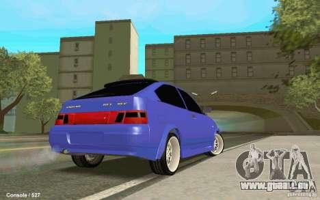 Lada 2112 Coupe pour GTA San Andreas laissé vue