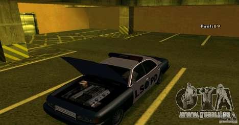 Merit Police Version 2 pour GTA San Andreas sur la vue arrière gauche