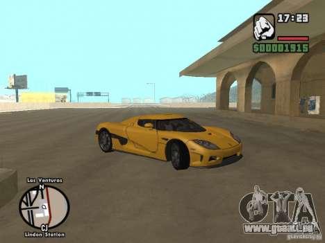 Koenigsegg CCX für GTA San Andreas Innenansicht
